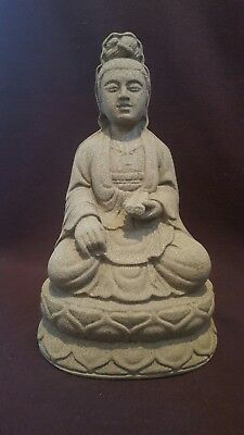Buddha ornament statue stone cast home and garden or fish pond decorations