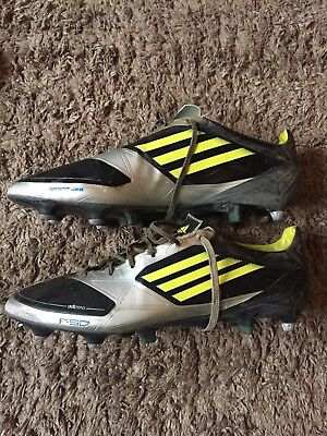 new products 8ae39 9b3a0 ADIDAS F50 ADIZERO TRX SG FOOTBALL BOOTS UK 11.5 - Black, Silver  Yellow -