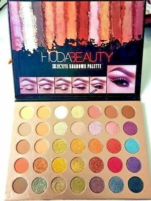 New HUDA BEAUTY 3D Textured Eye Shadow Palette 35 Colours 3D UK SALE 2018 Model