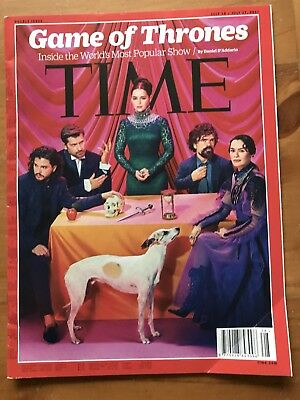 Rare TIME Magazine, GAME OF THRONES Double Issue, Photos, July 2017, GOT CHART
