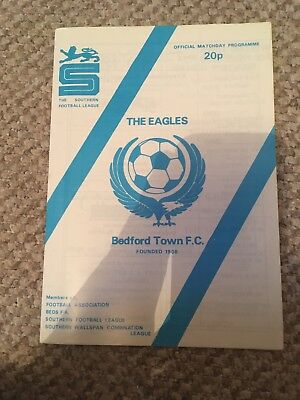 BEDFORD TOWN v WIMBLEDON  FA CUP 1st ROUND  1981 - 82