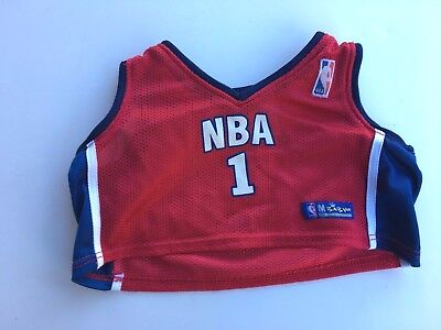 Build a Bear Full Size Teddy Bear Pre-owned Clothing - Red NBA Uniform Top