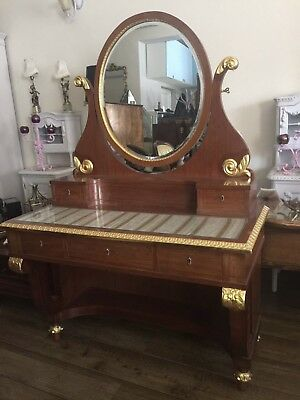 Antique French Dressing Table With Original Chair