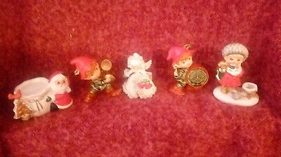 holt howard christmas/napco 6 pieces 2 unsigned or no markings