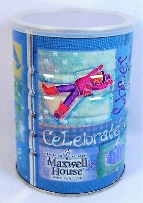 Maxwell House Winter Series 2004 Collectible Coffee Tin Advertising Canister