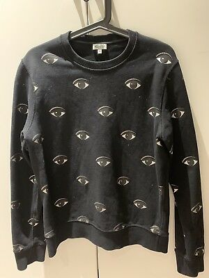 Jumper M Paris Size Sweatshirt Black Eyes Sweater Kenzo All Over LVpGqSUMz