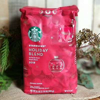 Starbucks Holiday Christmas Blend 2018 Ground Coffee 35oz 2.18LB Bag NEW LIMITED
