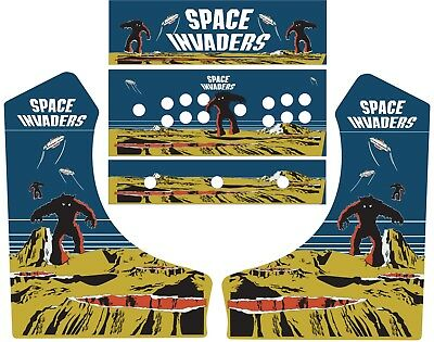 Space Invaders Bar top Arcade Side Art FULL SET JAMMA, 60 in 1, MAME
