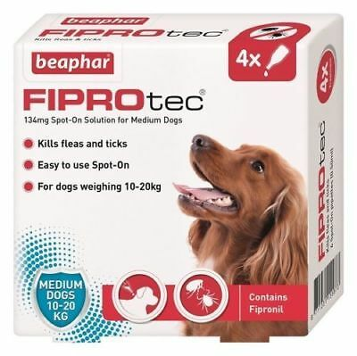 Beaphar Fiprotec FIPROtec Flea Spot On Medium Treatment 4 pipette