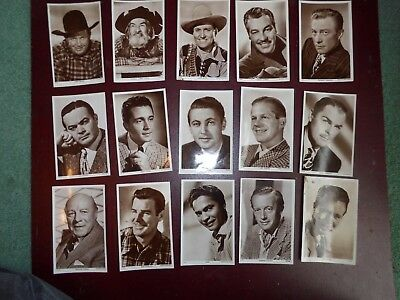 Bundle 15 Vintage Picturegoer RP Postcards  W series - Actors  (a)