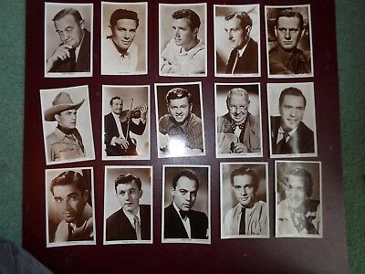 Bundle 15 Vintage Picturegoer RP Postcards  W series - Actors  (b)