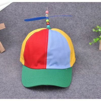 Adult Child Baseball Caps Funny Propeller Colorful Patchwork Bamboo Hip Hop Hat