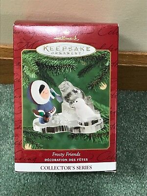 Hallmark Ornament 2000 Frosty Friends IOB 21st in Series Great Shape!!