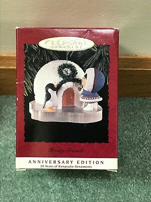 Hallmark Ornament Frosty Friends IOB 20th Anniversary 1973-1993 Great Shape!!