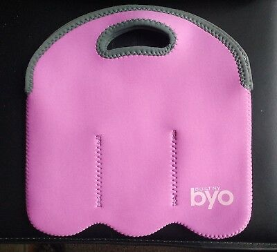 Built NY Byo PINK 6 Bottle Insulated Cool Carrier Neoprene 6 Pack Water Beer