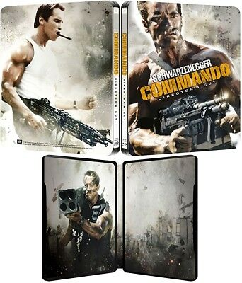 Schwarzenegger * COMMANDO * Director's Cut * Limited Steelbook * BD Blu-ray OOP