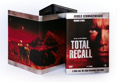 Schwarzenegger TOTAL RECALL Limited Digipak Uncut Special Edition 3 Disc HD DVD