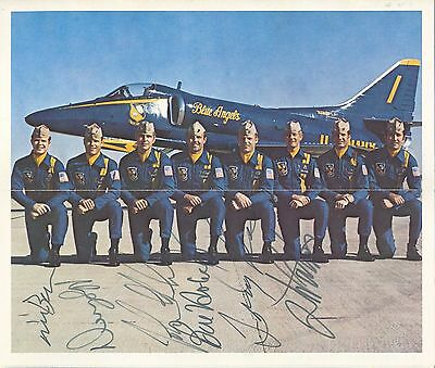 Multisigned Brochure BLUE ANGELS Aerobatic Team 1975, sehr selten, very rare!