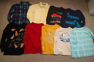 Lot of Boys 5/5t Long Sleeve tops Fall and Winter Clothing NINE Pieces EUC