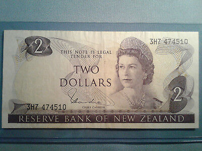 New Zealand Banknote 2 Dollars ND(1977-81) p-164D *VF*