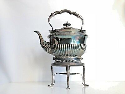 Beautiful Antique Walker & Hall Silver Plated Teapot With Stand Sheffield