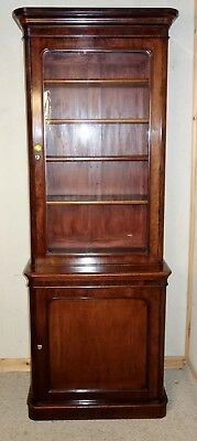 Fine Quality Tall & Narrow Victorian Mahogany Bookcase, nationwide delivery