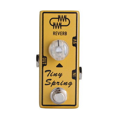 Tone City Tiny Spring Reverb Guitar Effect Compact Foot Pedal New
