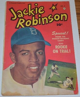 1951 Fawcett Publications ** JACKIE ROBINSON **comic book #5 RARE good condition