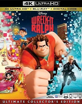 Wreck-it Ralph (4K UHD+Blu-ray+Digital) Free shipping Disney