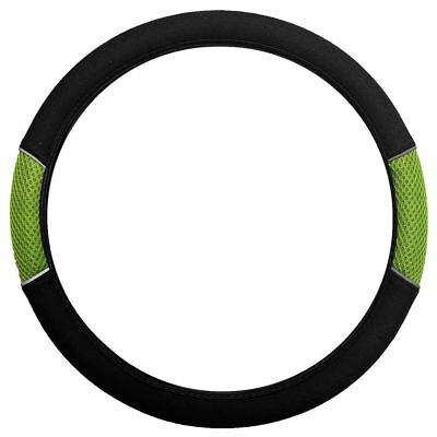Green Black Steering Wheel Cover Soft Grip Mesh Look for Fiat Scudo Combo 07-On