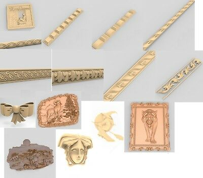 16 files in one lot.3d model STL relief for cnc carving relief artcam