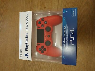 PS4 DualShock 4 Controller Magma Red V2   BRAND NEW SEALED OFFICIAL