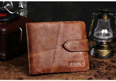Genuine Leather Men Wallets Small Short With Coin Zipper Mini Male Purses