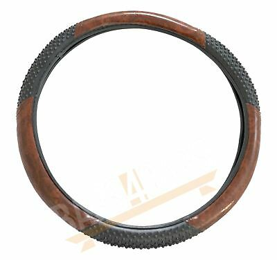 Car Steering Wheel Cover Black & Wood Look Effect for Jaguar XJS All Years