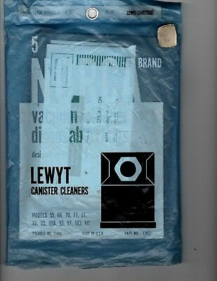Lewyt canister vacuum bags, NOS (10)