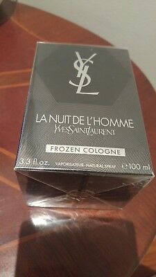 YSL LA NUIT DE L'HOMME FROZEN 100 ml Sealed - Rare 2012 Batch Very Hard To Find