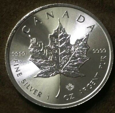 Canadian $5 Silver Maple Leaf Coin 2019 - 1oz .9999 Fine Silver 🇨🇦
