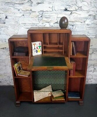 Art Deco Bureau with bookshelves.