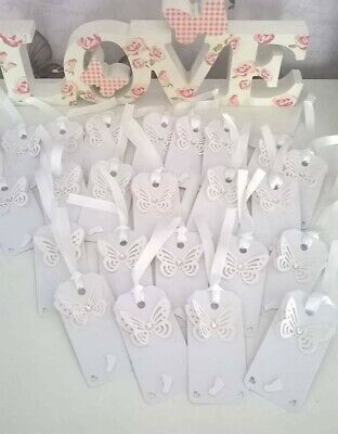 20 Baby Shower / Christening Wishing Tags available in pink white blue lemon