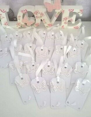 20 wishing tags baby shower / christening available in pink white blue lemon