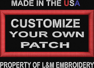 Custom Embroidered Patch Name Saying 4 X 2Inch Personal Made In Usa