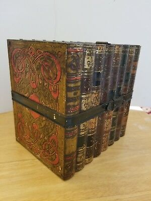 Vintage Huntley & Palmers Biscuits book stack tin litho Reading and London