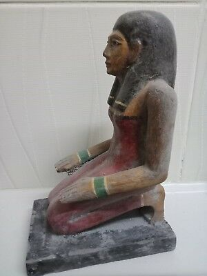 A rare statue of a pharaoh. Ancient Egyptian civilization