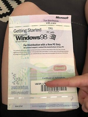 Getting started Mircosoft Windows 98 2nd edition TPG MANNUAL ONLY