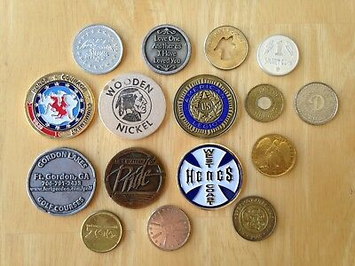 Misc Token Collection - Lot of 16 Miscellaneous Tokens - # 6