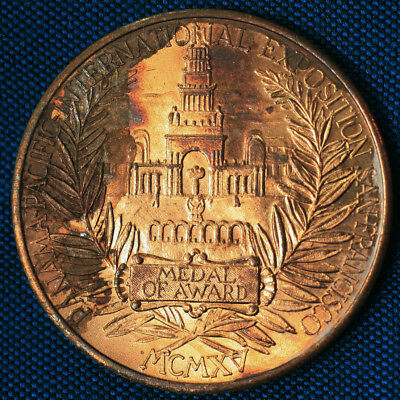 1915 PPIE Panama-Pacific Exposition San Diego Eastside Beer Gold Medal Medalion