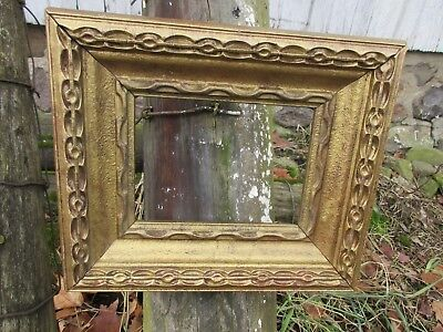 "Antique Vintage Victorian Wooden Gold Gilded Gesso Picture Frame 6"" X 8"""