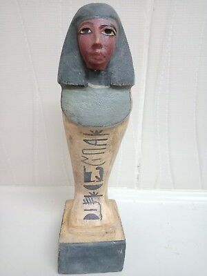 Oshabti statues servants .  Wood