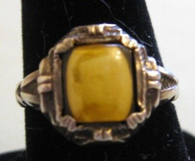 Rare Antique Sterling Victorian Ring with Sepia Photo-Mourning Ring?