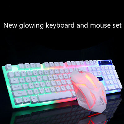 USB Gaming Limeide Backlight  Ergonomic Keyboard and Mouse Suit for PC Laptop AU